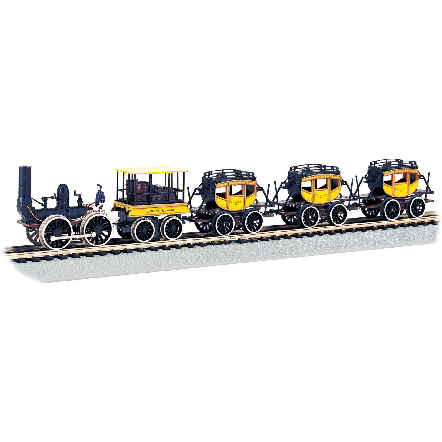Bachmann Trains Dewitt Clinton HO Scale Ready-To-Run Electric Train Set by Bachmann Trains