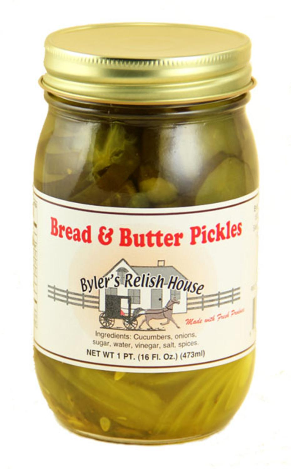 Byler's Relish House Homemade Amish Country Bread & Butter Pickles 16 oz. by Byler's Relish House