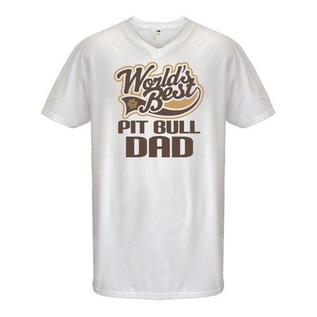 Pit Bull Dad (Worlds Best) Dog Breed Men's V-Neck