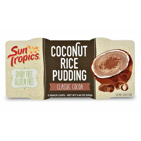 - SunTropics Coconut Rice Pudding Snack | Gluten Free, Dairy Free, Vegan, Low Sugar, Non-GMO, Ready-to-Eat | Classic Cocoa, 8.46oz, 1 Pack