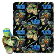 Nickelodeons Teenage Mutant Ninja Turtles, Leo Strikes Hugger Character Shaped Pillow and 40x 50 Fleece Throw Set