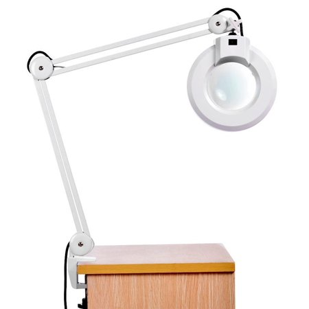 Gifts Magnifying Lamp Desk Table Clamp Rolling Adjule Light Glass Len Us Plug Amzse