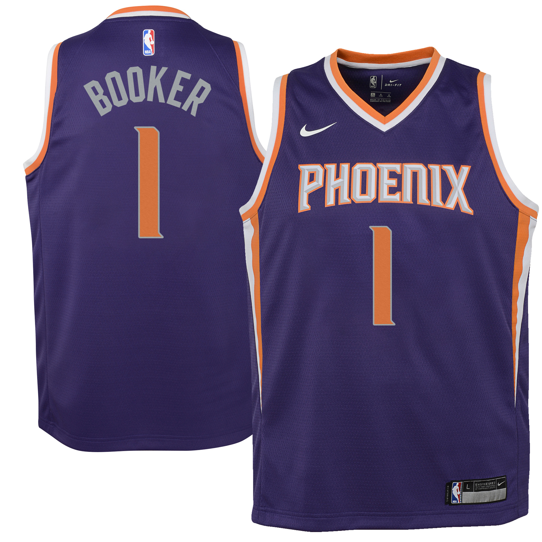 Devin Booker Phoenix Suns Nike Youth Swingman Jersey Purple - Icon Edition