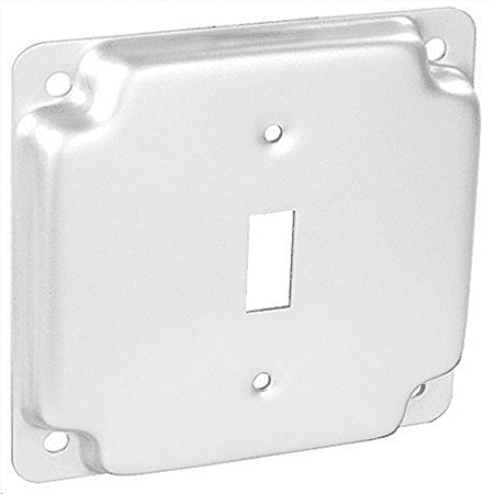 4 Inch Square 1/2 Inch Raised Stainless Steel Toggle Switch Industrial Surface Cover