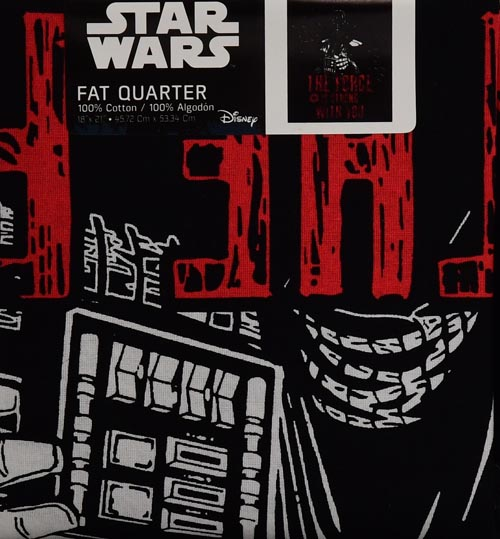 Star Wars Official Licensed The Force Is Strong Quote Fat Quarter