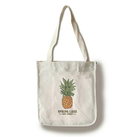 Spring Lake, New Jersey - Pineapple - Icon - Lantern Press Artwork (100% Cotton Tote Bag - Reusable)