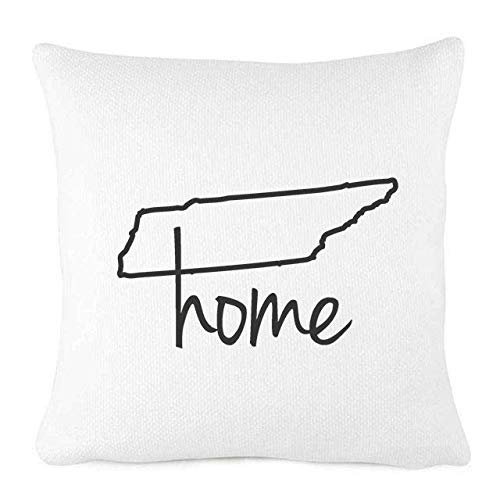Personalized White Farmhouse Throw Pillow Outline Of Your State Home State Pride Pillow Cover Home Decor Tennessee 18x18 Walmart Com Walmart Com