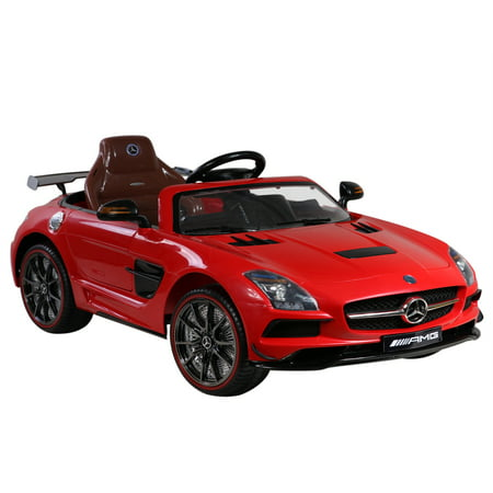 licensed mercedes benz sls amg 12v kids battery powered ride on car red