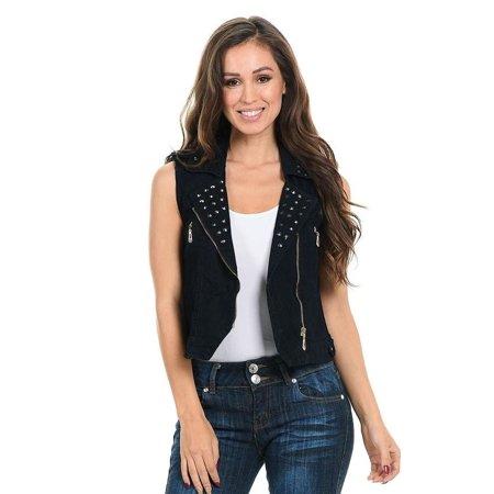 M.Michel Women's Denim Vest · Style 428A