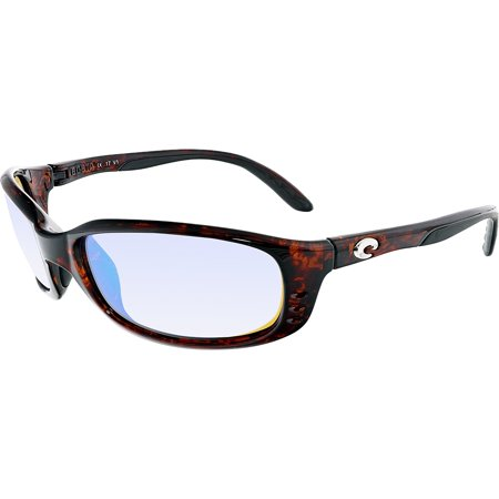 Costa Del Mar Polarized Brine BR10GMGLP Brown Rectangle (Photo Polarized Vs Polarized)