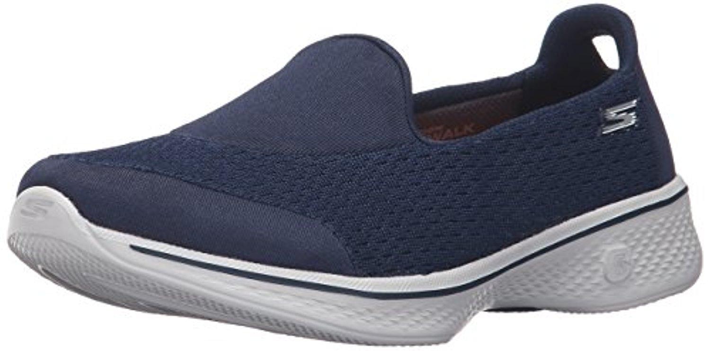 14148 W Wide Fit Navy Skechers Shoes Go Walk 4 Women Mesh Slip On Comfort Casual 14148EWNVGY