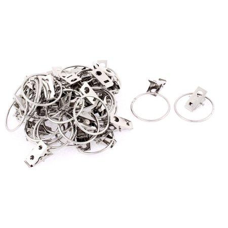 40pcs 23x10mm Stainless Steel Window Curtain Clip Hook Drapery Wire Rod Rings - Wire Rings