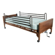 Drive Medical Semi Electric Hospital Bed with Full Rails and Innerspring Mattress