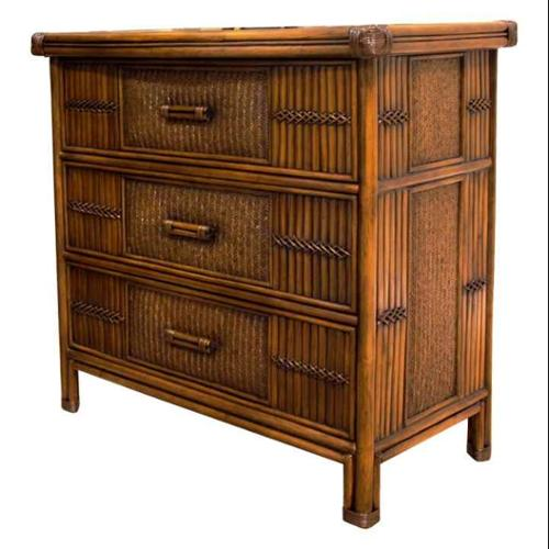 Polynesian 3 Drawer Chest in Antique Finish