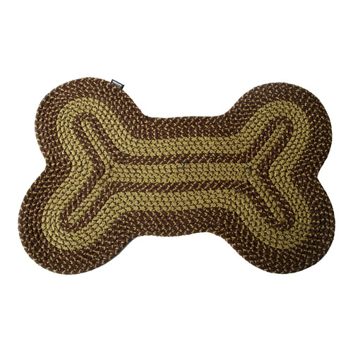 DEI Lucky Dog Bone Braided Area Rug
