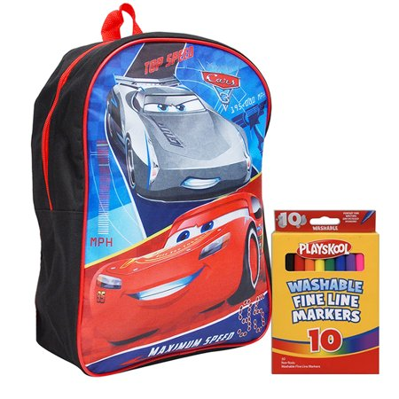 aa1fac445f6 Disney - Boys Cars Lightning McQueen Backpack 15