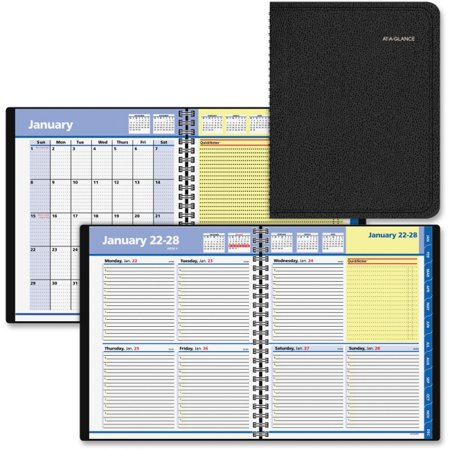 - At-A-Glance QuickNotes Weekly/Monthly Appointment Books - Julian - Weekly, Monthly - 1 Year - January 2018 till December 2018 - 8:00 AM to 5:00 PM - 1 Week, 1 Month Double Page Layout - 8