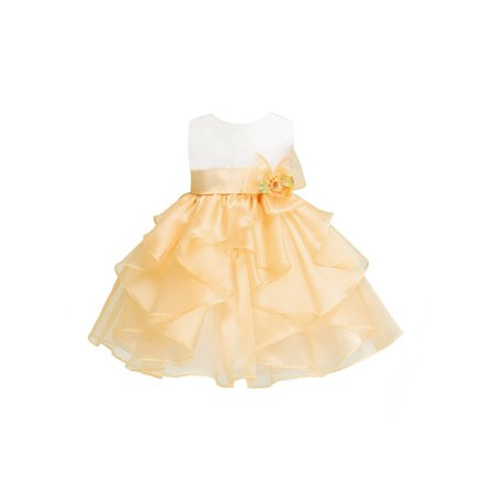 9dee4eeaaa6 Dempsey Marie Layered Organza Ruffle Skirt Pageant Party Dress
