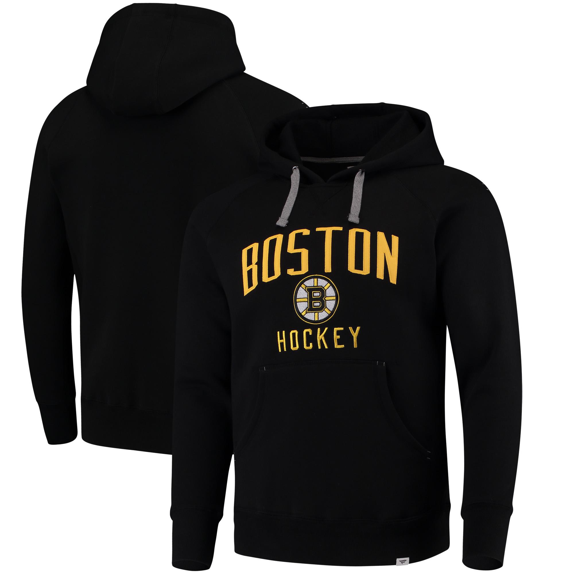 Boston Bruins Fanatics Branded Indestructible Pullover Hoodie - Black