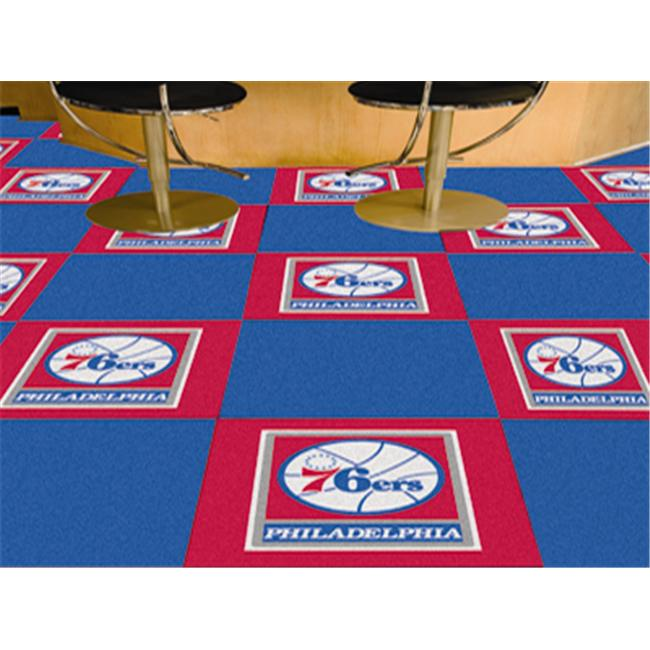 FANMATS 9376 Philadelphia 76ers Carpet Tiles 18 in. x 18 in. tiles