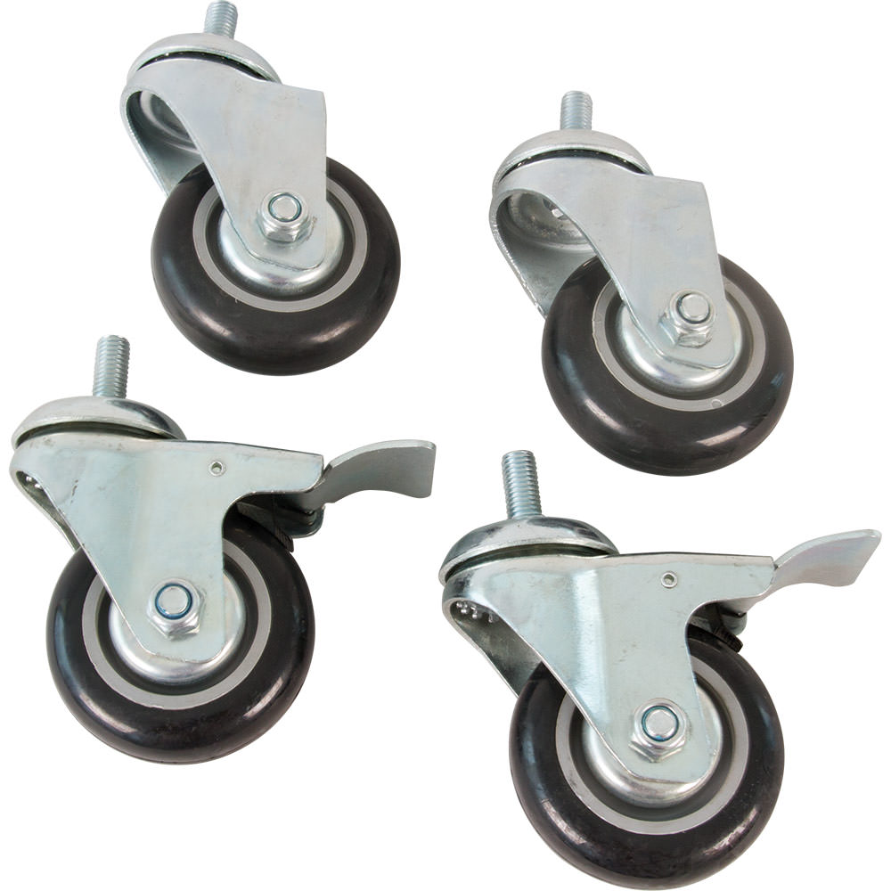 Body Sport Dumbbell Rack Casters, 4/Set