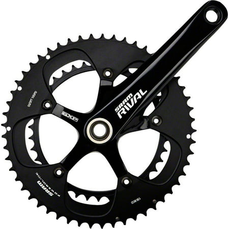 SRAM Rival Black 68mm 175mm 53-39 Black Rings Crankset with GXP Bottom Bracket