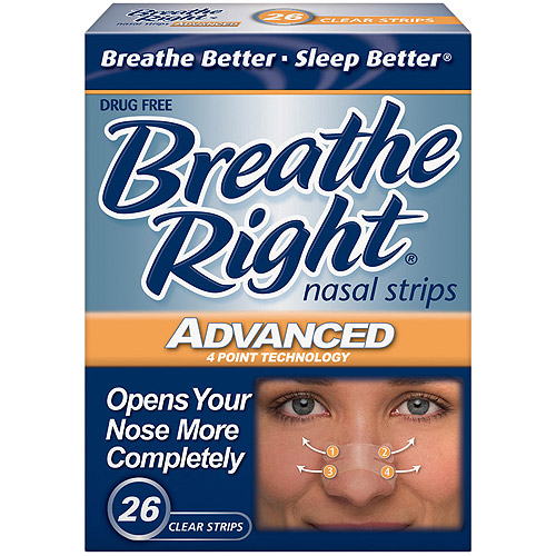 Breathe Right Advanced Clear Nasal Strips, 26ct
