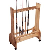 Rush Creek Creations Double Sided 16 Fishing Rod Rolling Storage Rack