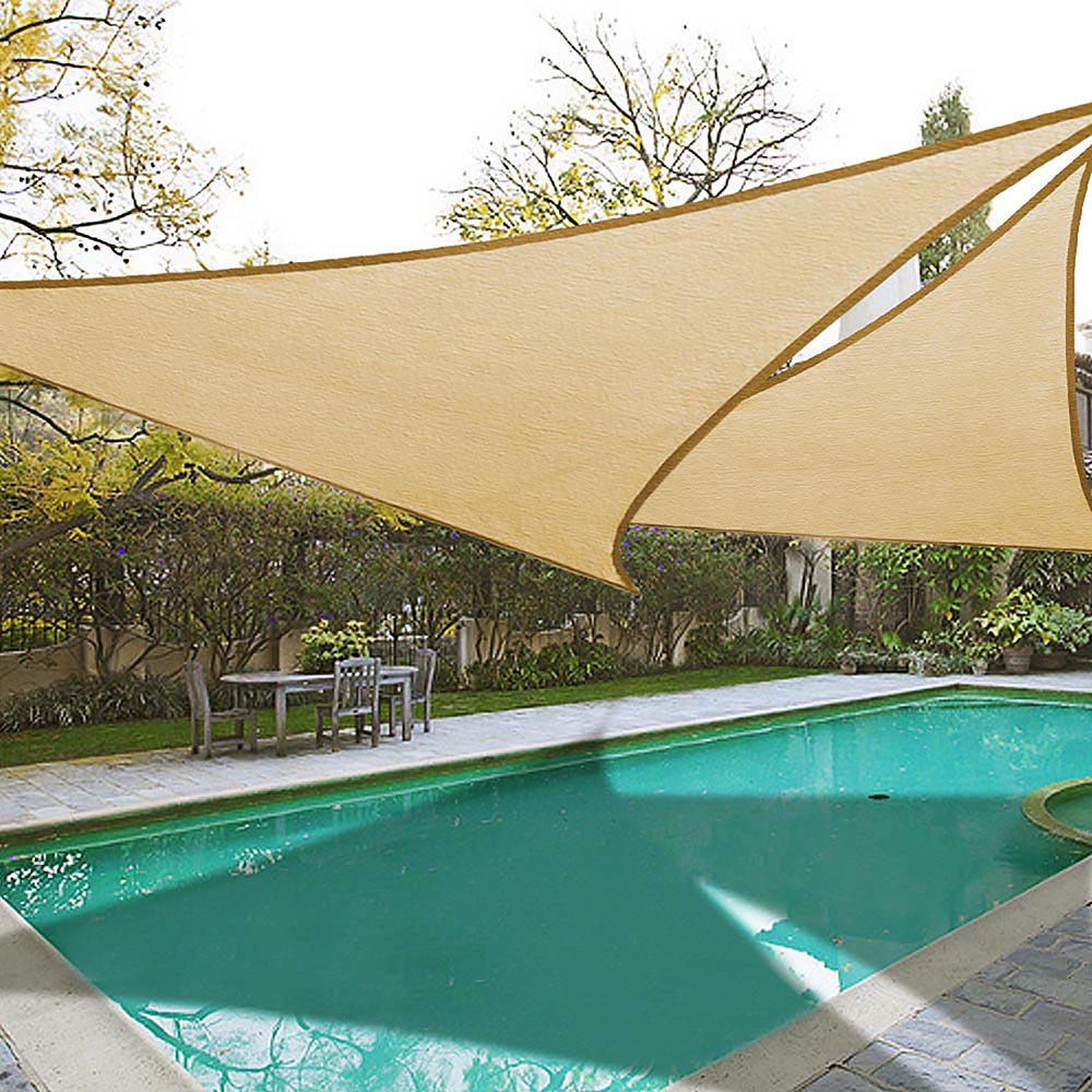 Yescom 2x 16.5' Triangle Sun Shade Sail Patio Canopy Cover UV Blocking