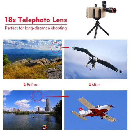8X18 High Power Mobile Monocular Smartphone Shockproof Telescope for Bird Watching Hunting Camping - image 8 of 9