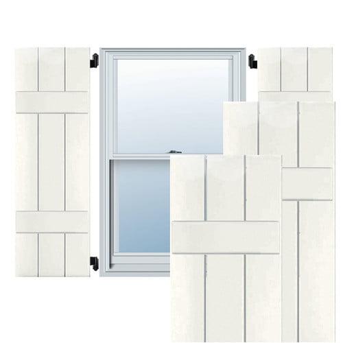 Ekena Millword Exterior 3 Composite Wood Board-N-Batten Shutter (Set of 2)