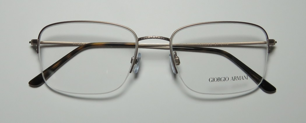 4e9fa340559 New Giorgio Armani 5043 Mens Designer Half-Rim Gray European Durable  Stunning Frame Demo Lenses 56-19-150 Eyeglasses Spectacles - Walmart.com