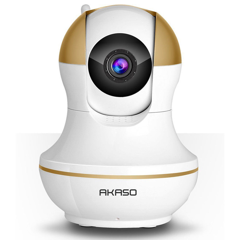 AKASO IP Security Camera System 720P HD Wireless Network Pan/Tilt Outdoor WiFi Two Way Audio Webcam