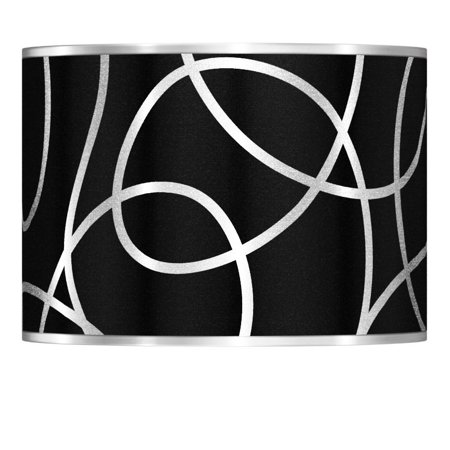 Giclee Gallery Abstract Silver Metallic Giclee Lamp Shade 13.5x13.5x10 (Spider)