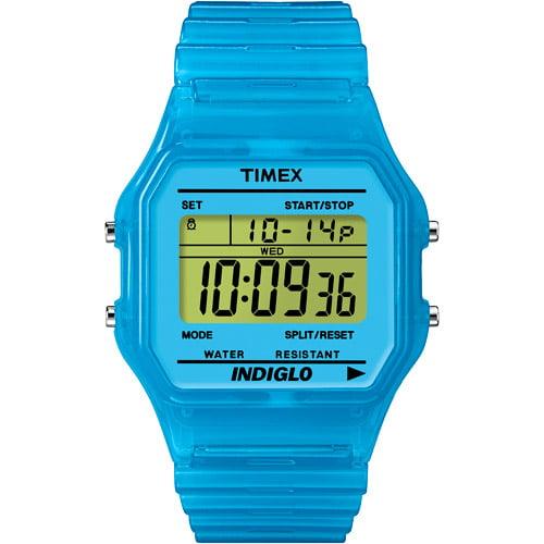 Timex Classic Digital Blue   Timer Split Times Indiglo New Vintage Watch T2N814
