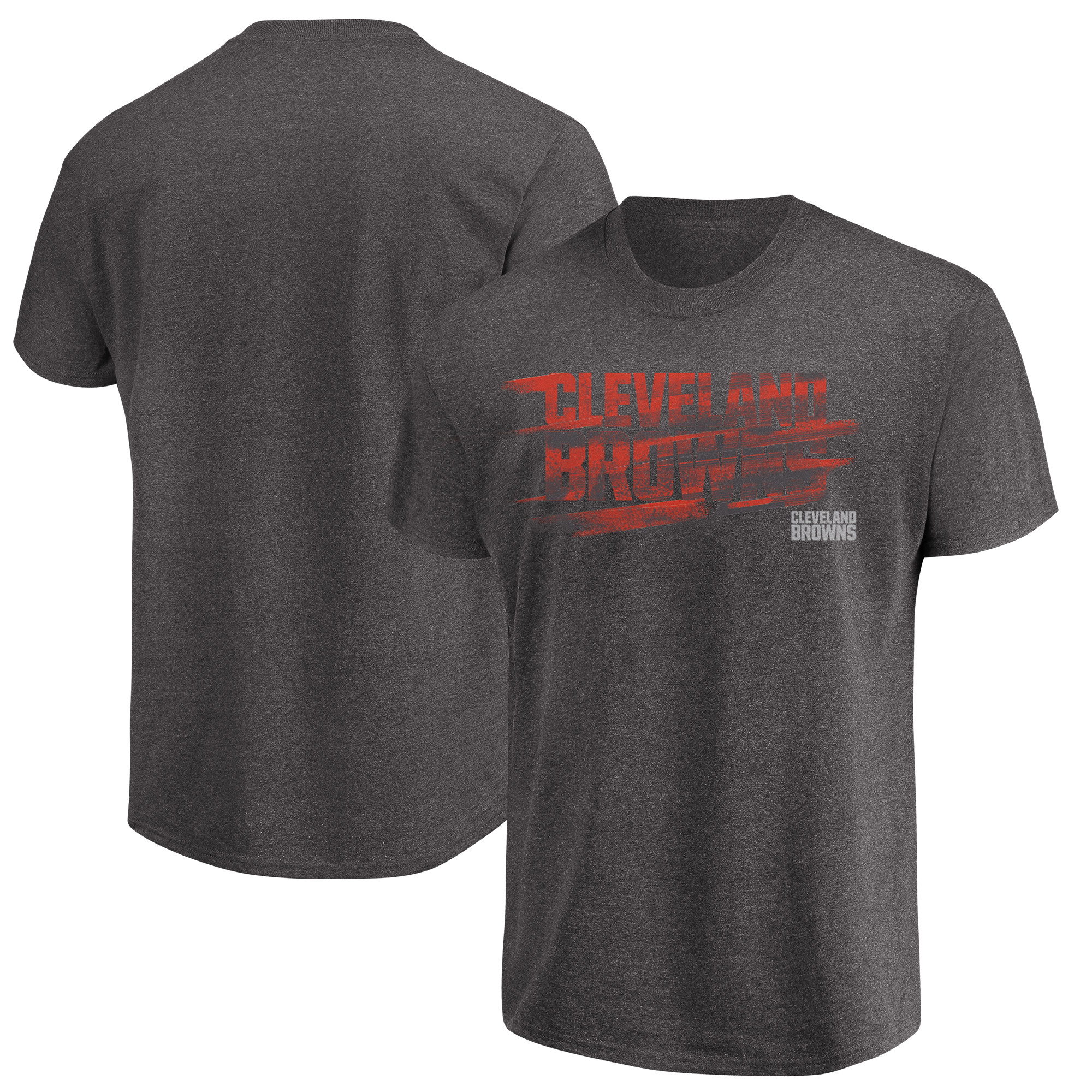 Cleveland Browns Majestic Fierce Intensity T-Shirt - Heathered Charcoal - L