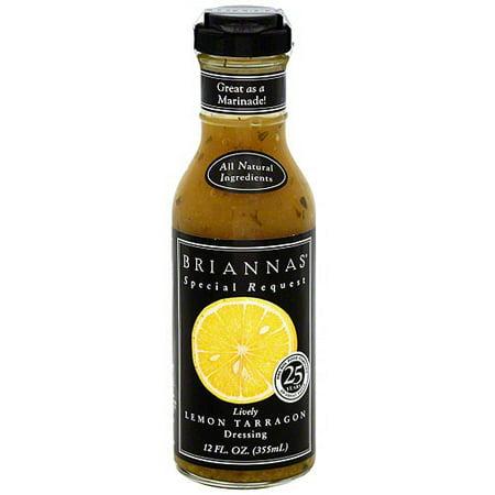 Brianna's Lively Lemon Tarragon Dressing, 12 oz (Pack of 6) ()