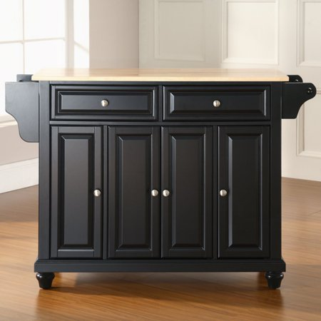 Crosley Furniture Cambridge Natural Wood Top Kitchen Island - Crosley kitchen island cart natural wood top