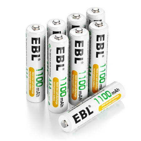 EBL 8-Pack 1.2v AAA Battery Ni-MH 1100mAh Rechargeable Batteries for Camera Toys