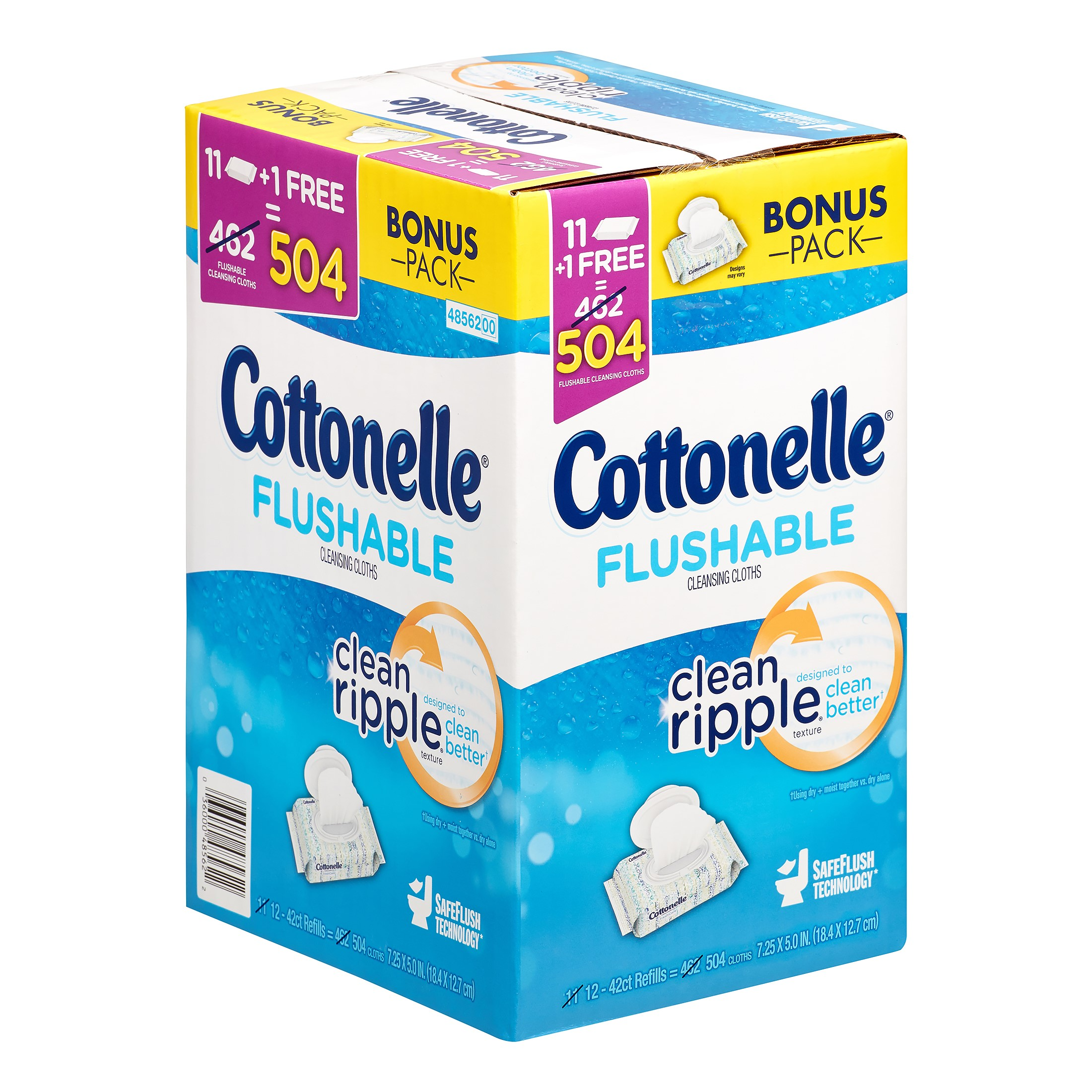 Free Shipping!! Cottonelle Flushable Wipes 504 ct.