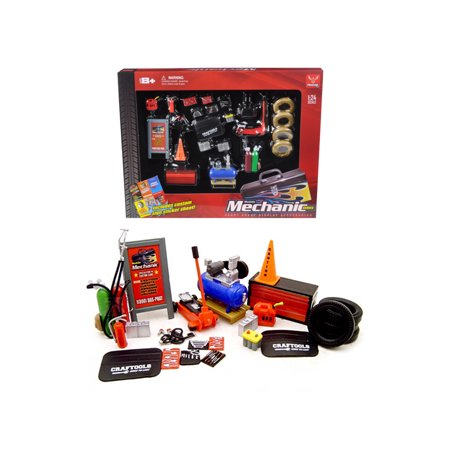 Mechanic Accessory Set For 1/24 Scale Cars 23 Pieces by Phoenix Toys - image 1 de 1