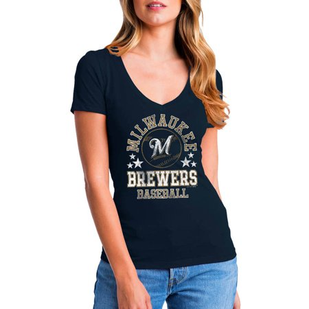 Milwaukee Brewers Mlb Pool - MLB Milwaukee Brewers Women's Short Sleeve Team Color Graphic Tee