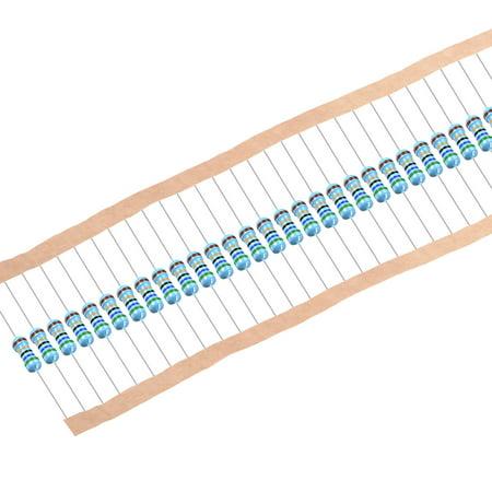 1/2 Watt 56 Ohm Metal Film Resistors 0.5W 1% Tolerances 5 Color Bands 50 Pcs - image 4 de 4