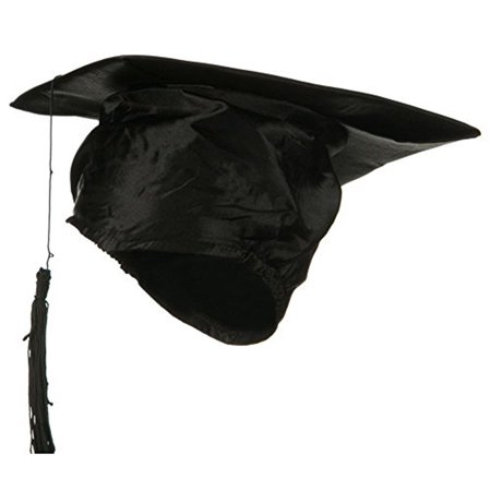 Black Graduation Hat Cap with Black Tassel - Spongebob Graduation Cap
