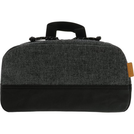 Fossil Men's Summit Shave Kit Canvas Cosmetic Bag - Grey