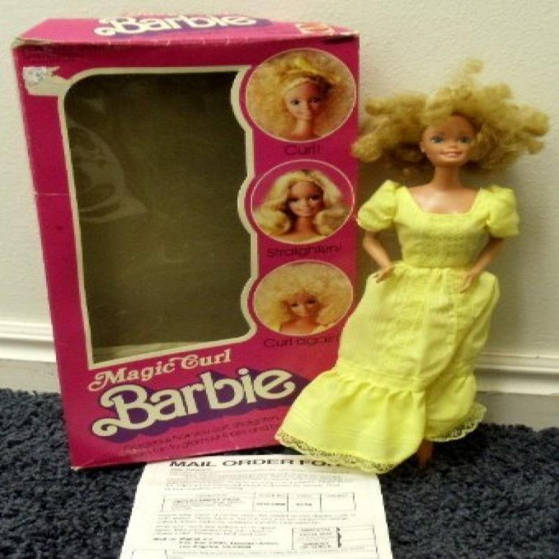Vintage 1981 Magic Curl Barbie Doll Complete with Box and...