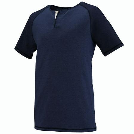 Augusta LINEAR FUSION S/S HENLEY NV/BKFS L Augusta Sportswear Henley