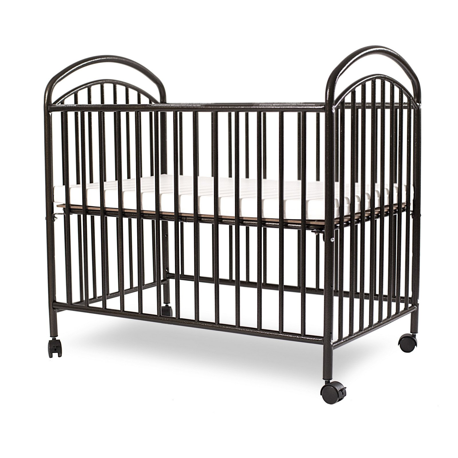 La Baby Classic Arched Mini Portable Crib Walmart Com