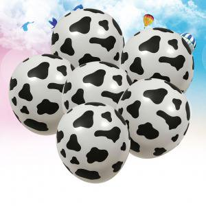 Fancyleo 10 Pack 12 Inches Funny Cow Print Latex Balloons for Children