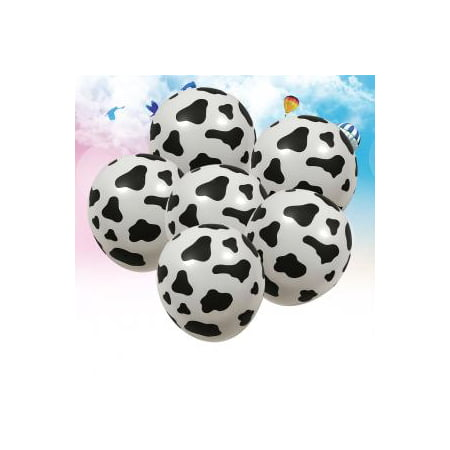 Theme For Birthday Party (Fancyleo 10 Pack 12 Inches Funny Cow Print Latex Balloons for Children's Birthday Farm Animal Theme Party Supplies)